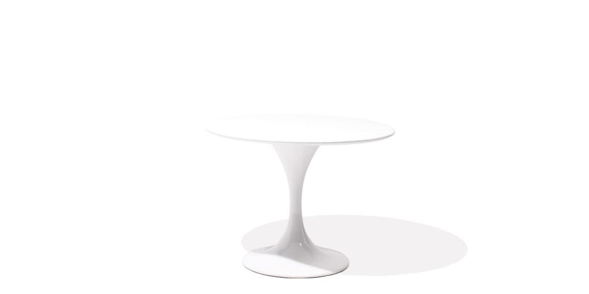 """40""""dia White Round Table TBR013207"""