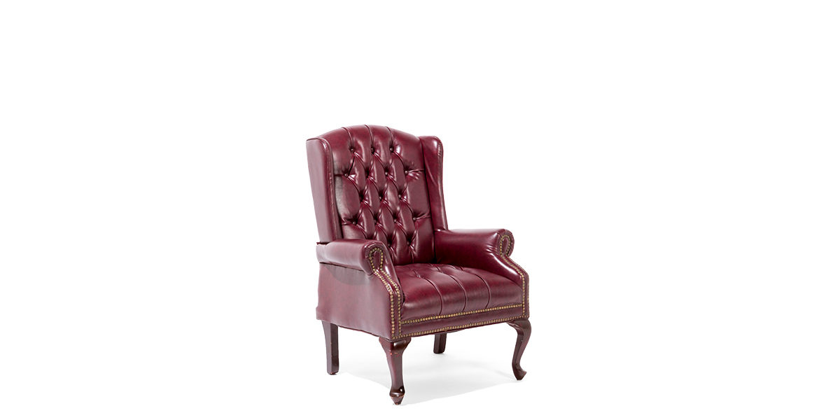 Oxblood Wing Back Guest Chair TRD009812