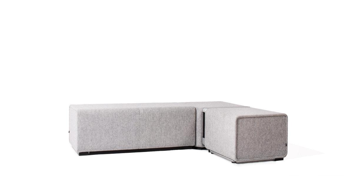 "70.75""w x 47.25""d Grey Tandem Bench BEN014136"