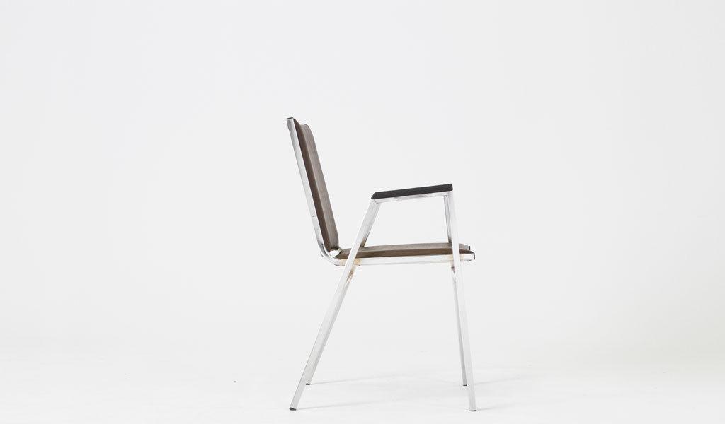 Brown Vinyl Stack Chair CHR006756