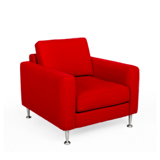 Red Fabric Modern Club Chair CHR010215