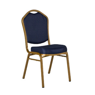 Blue Polka Dot Fabric Banquet Chair CHR011711