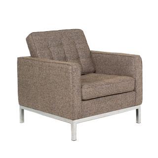 Oatmeal Tweed Fabric Lounge Chair CHR012594