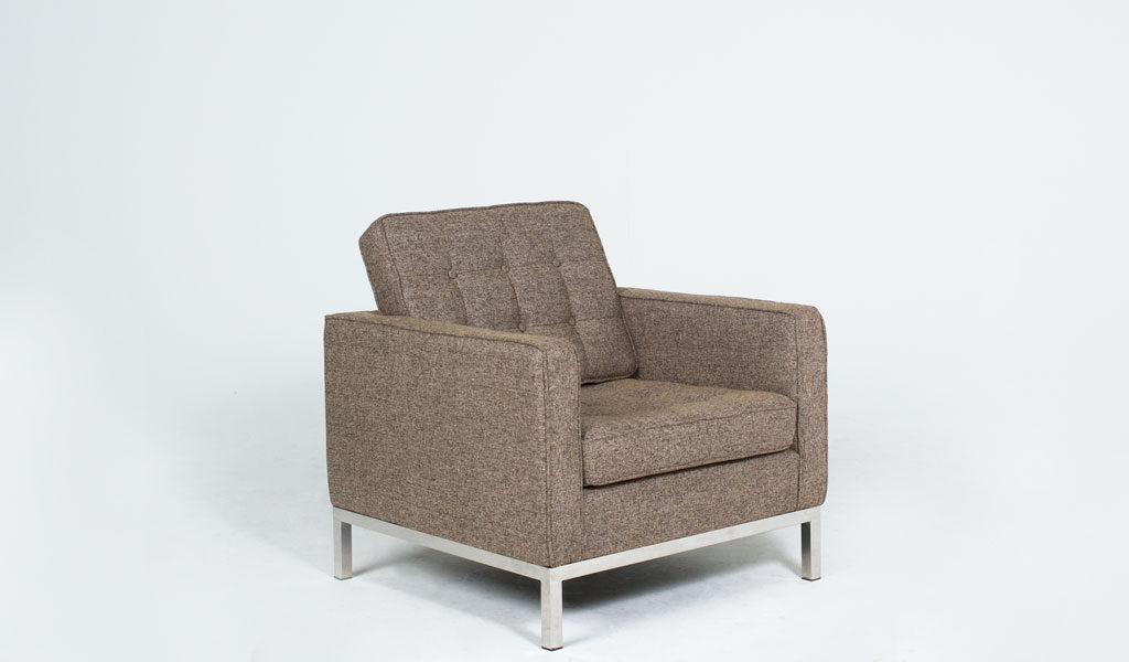 Oatmeal Tweed Fabric Lounge Chair CHR012594