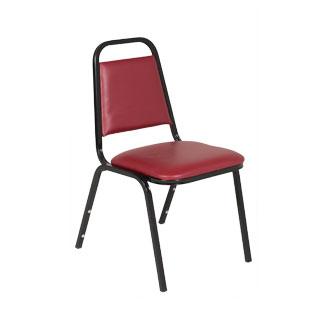 Red Vinyl Banquet Chair CHR012733