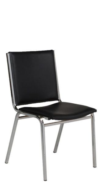 Black Vinyl Stack Chair CHR012900