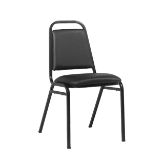 Black Vinyl Stack Chair CHR013507