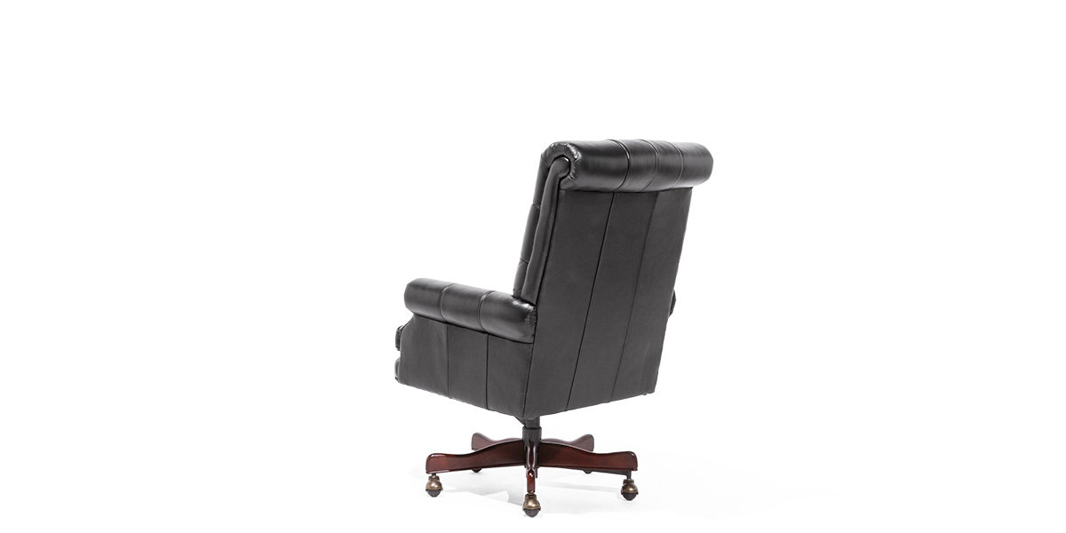 Traditional Black Leather Office Chair CHR014031