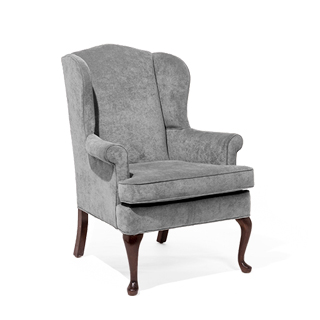 Grey Fabric Wing Back Club Chair CHR014123