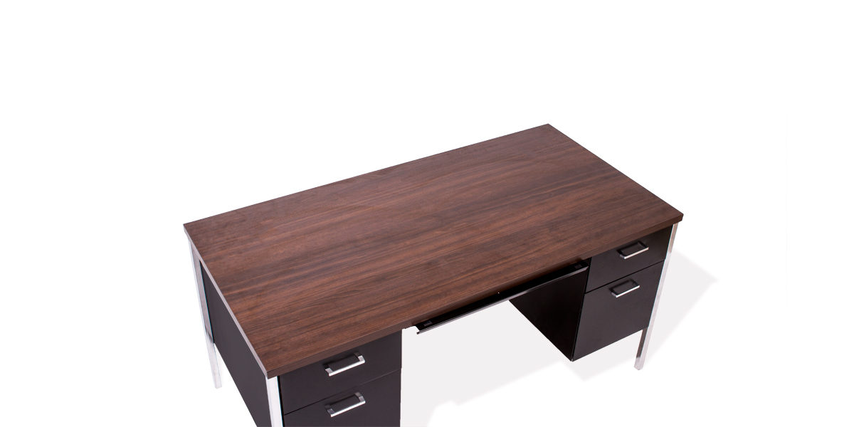 "60""w x 30""d Black Laminate Desk DSK011228"