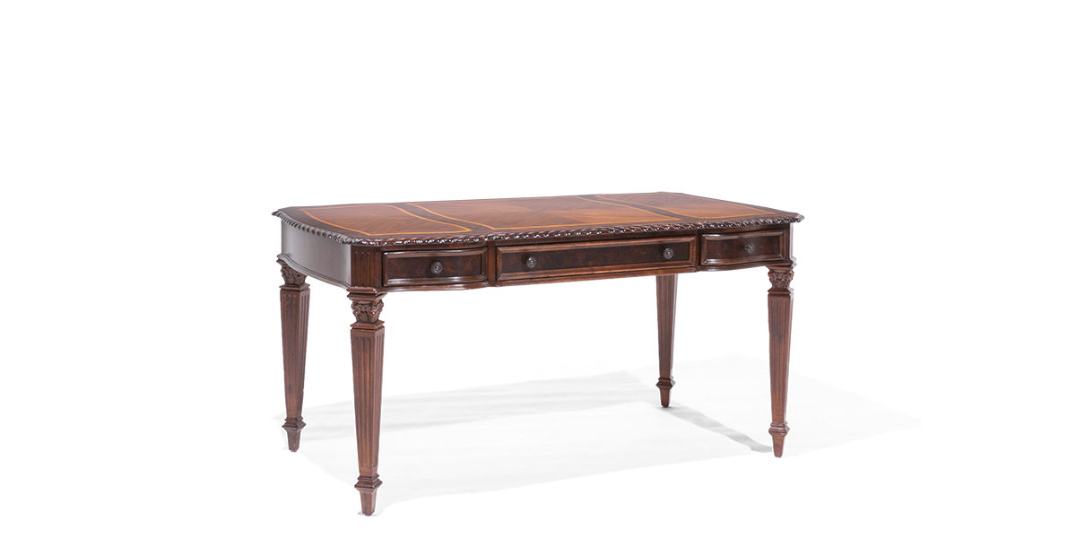 "62""w x 33""d Traditional Mahogany Table Desk DSK014012"