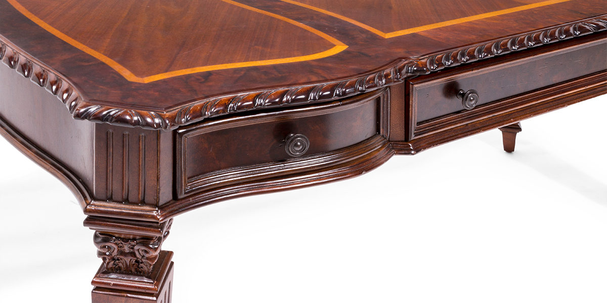 """62""""w x 33""""d Traditional Mahogany Table Desk DSK014012"""
