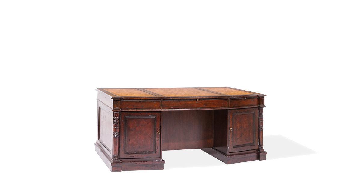 "74""w x 41""d Mahogany Desk DSK014017"