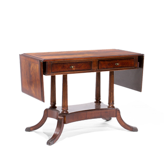 "43.75""w - 70""w x 20""d Mahogany Table Desk DSK014072"