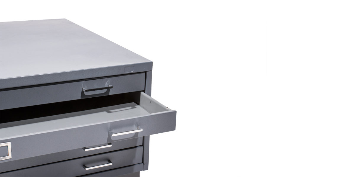 "47""w x 35""d Grey Blueprint File Cabinet FIL004364"