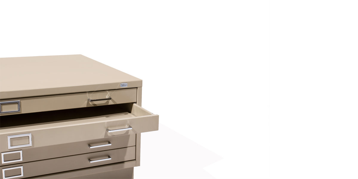 "47""w x 35""d Beige Blueprint File Cabinet FIL005927"