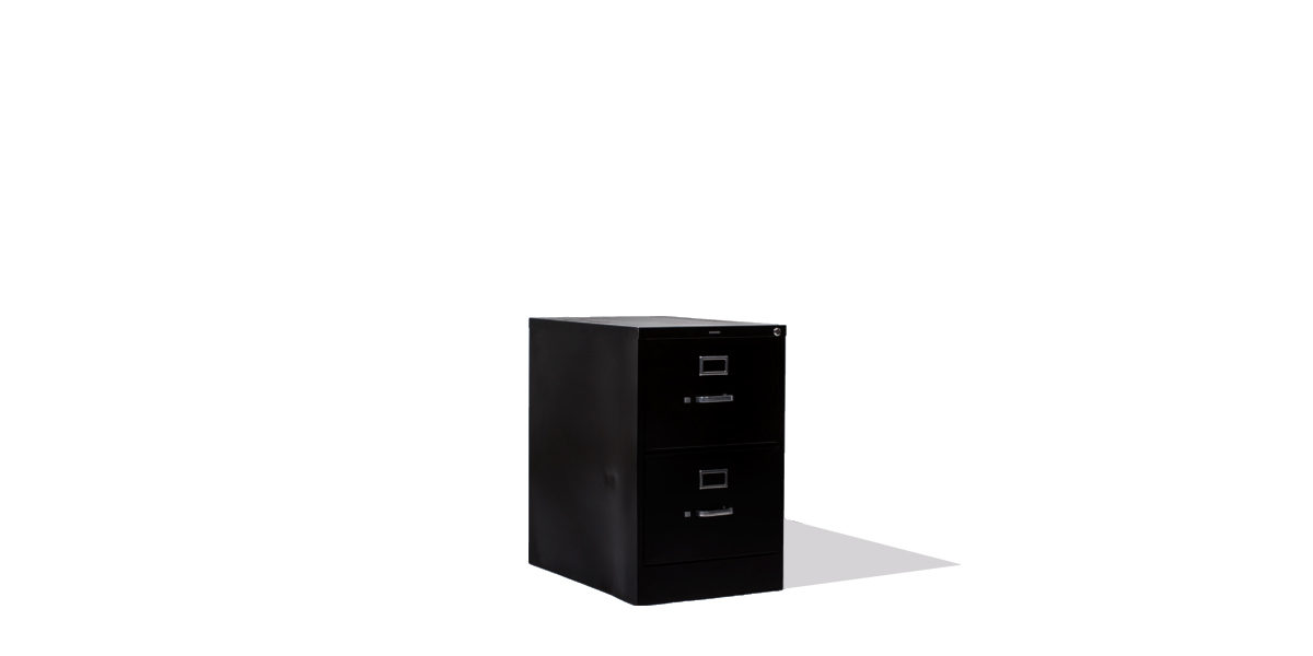 "18.25""w x 25""d Black Vertical File FIL006651"