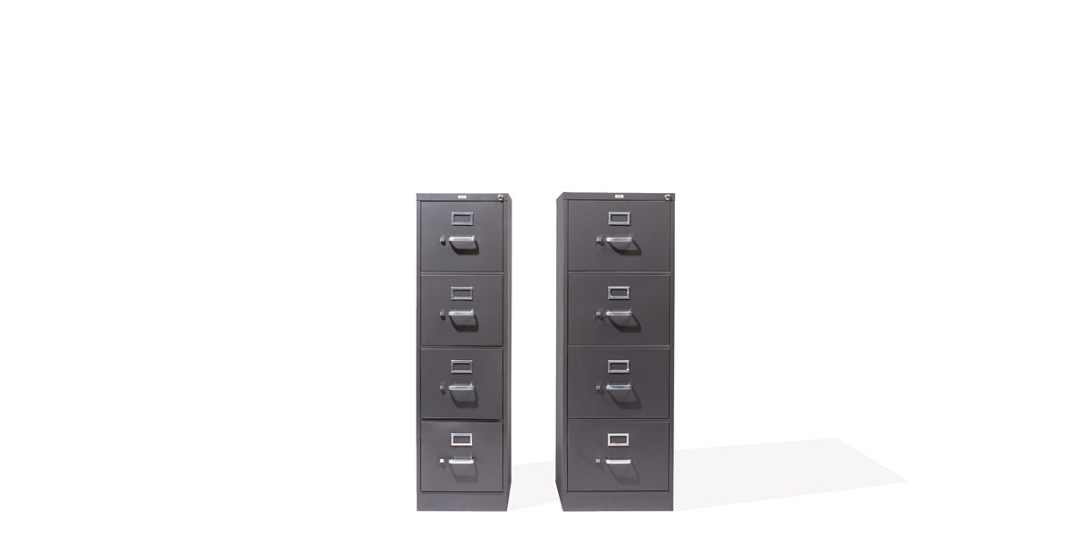 "18""w x 27""d Charcoal Grey Vertical File FIL007134"