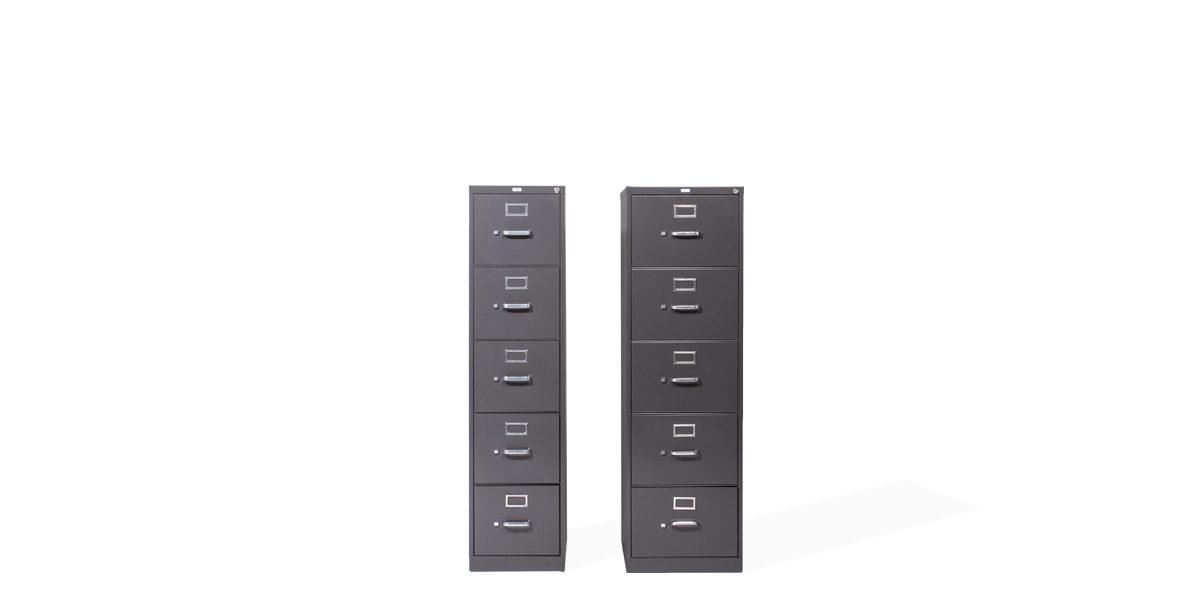"15""w x 27""d Charcoal Grey Vertical File FIL008258"