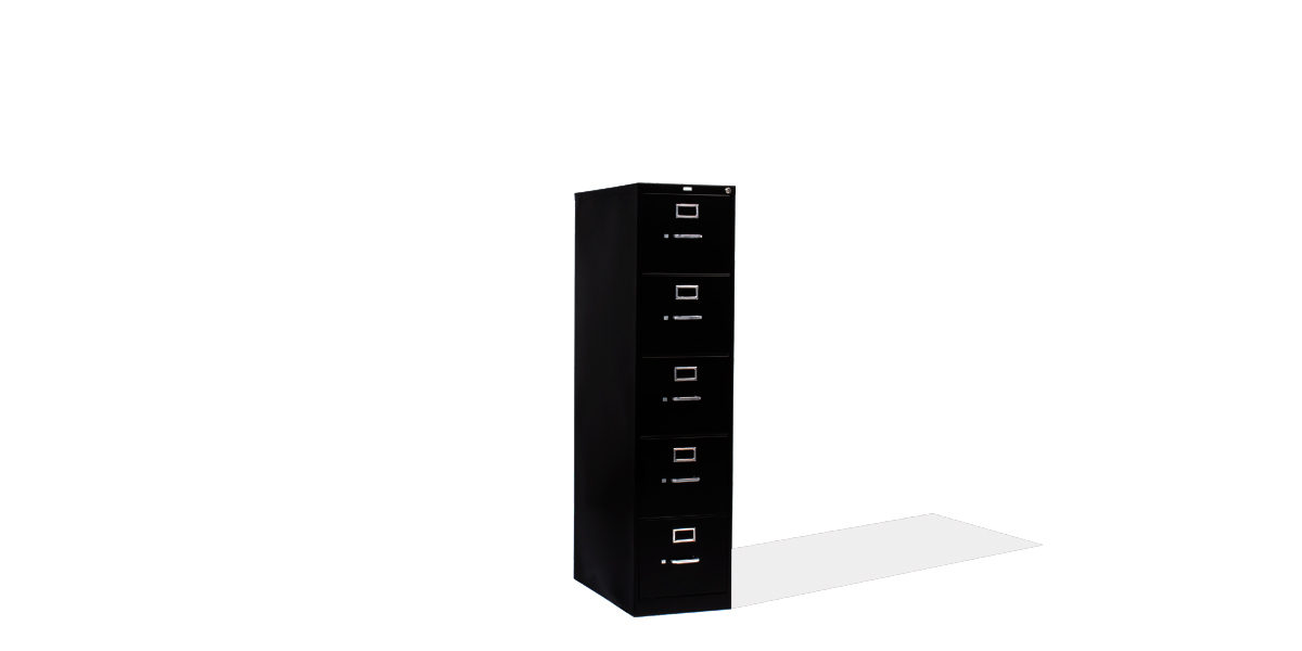 "15""w x 27""d Black Vertical File FIL011650"