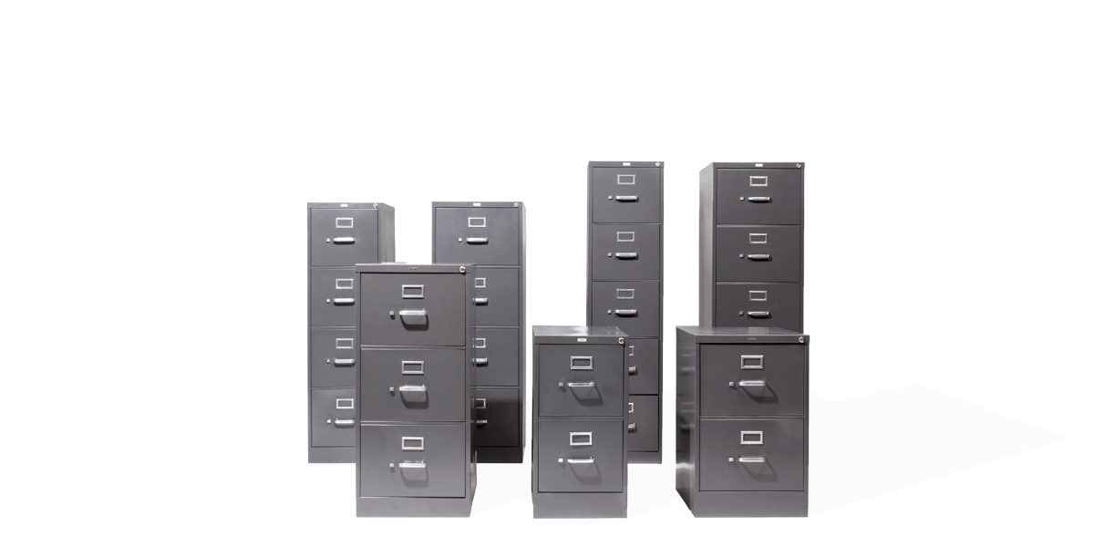 "15""w x 27""d Charcoal Grey Vertical File FIL012810"