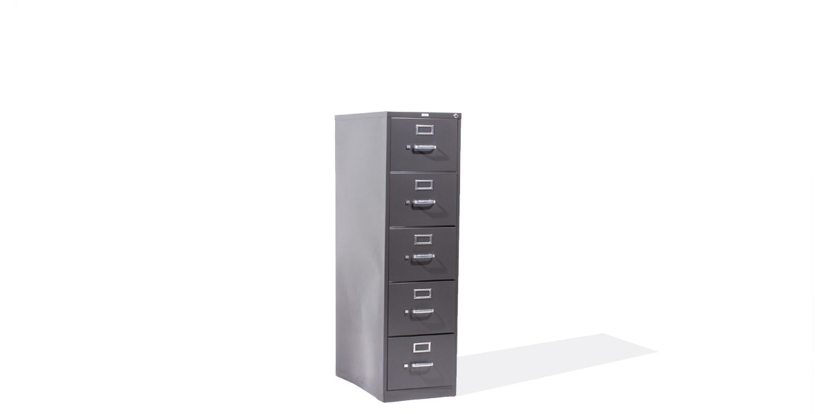 "18""w x 27""d Charcoal Grey Vertical File FIL012819"