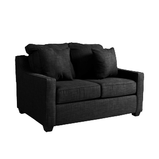 "57""w x 38""d Charcoal Fabric Loveseat LVS013273"