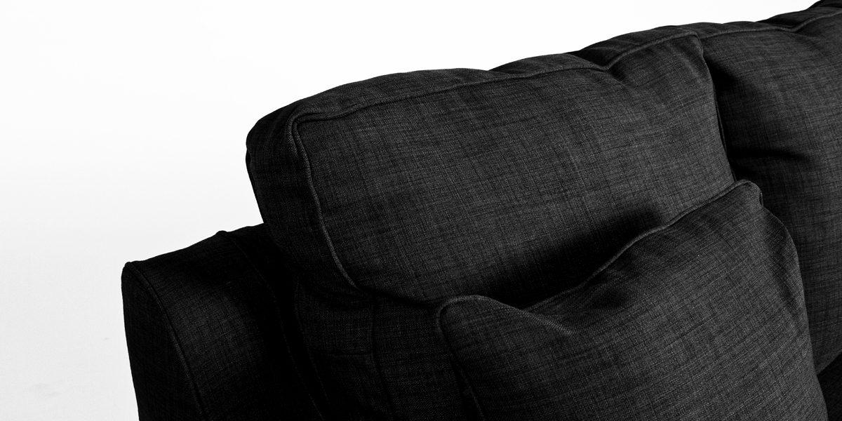 """81""""w x 38""""d Charcoal Fabric Sofa SOF013272"""