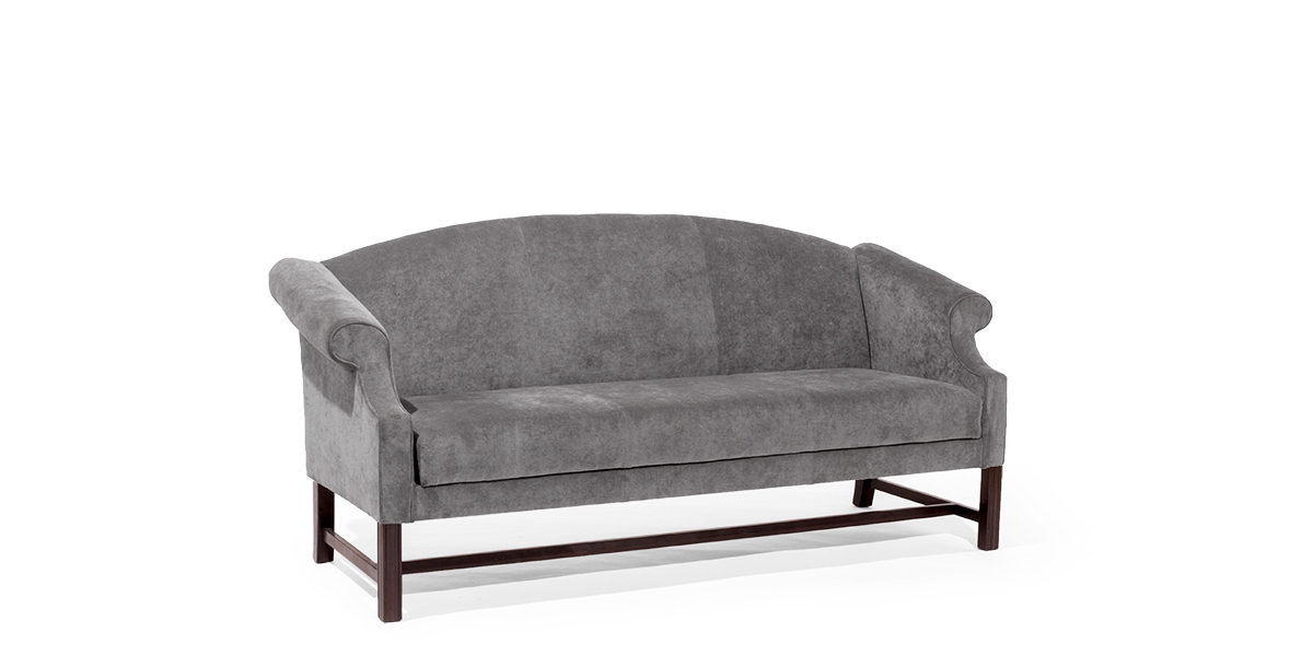 "72""w Grey Wing Back Sofa SOF014714"