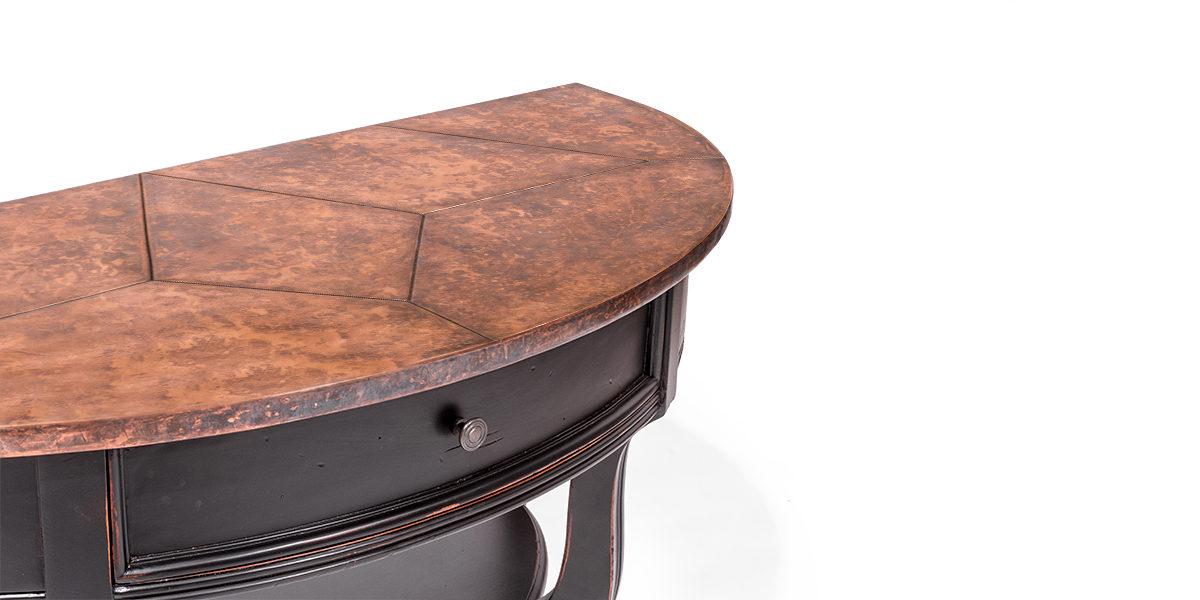 "43.5""w x 19.25""d Ebony Console Table TBL014069"