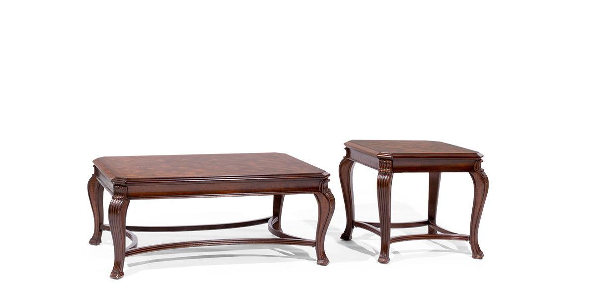 """48""""w x 30""""d Walnut Coffee Table TBL014089"""