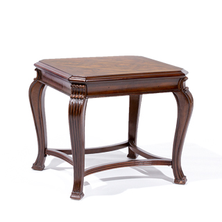 "27""w x 23""d Walnut End Table TBL014090"