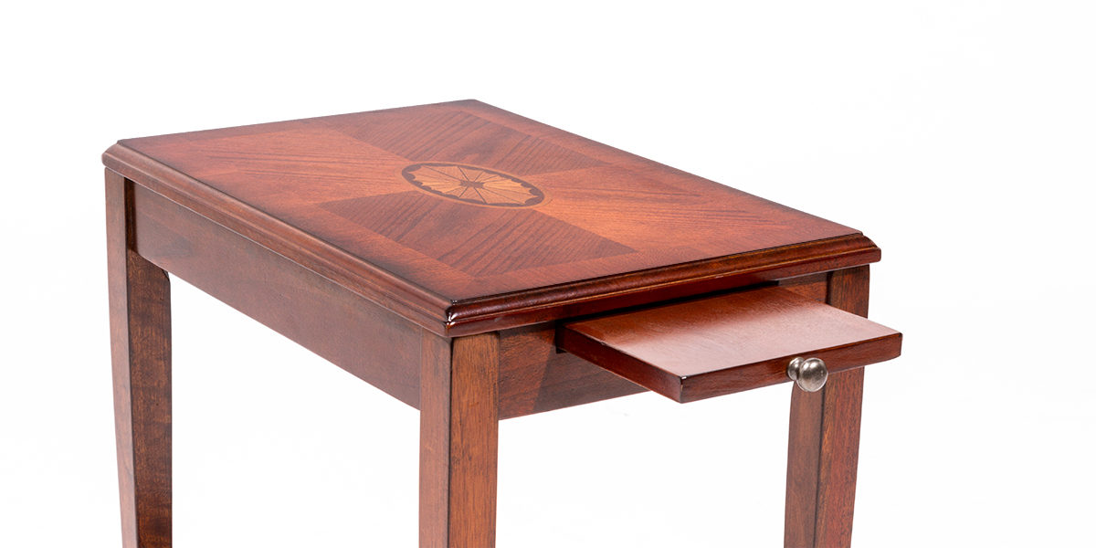 "12""w x 18""d Medium Cherry End Table TBL014094"