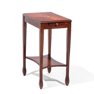 "12""w x 18""d Medium Cherry End Table TBL014094"