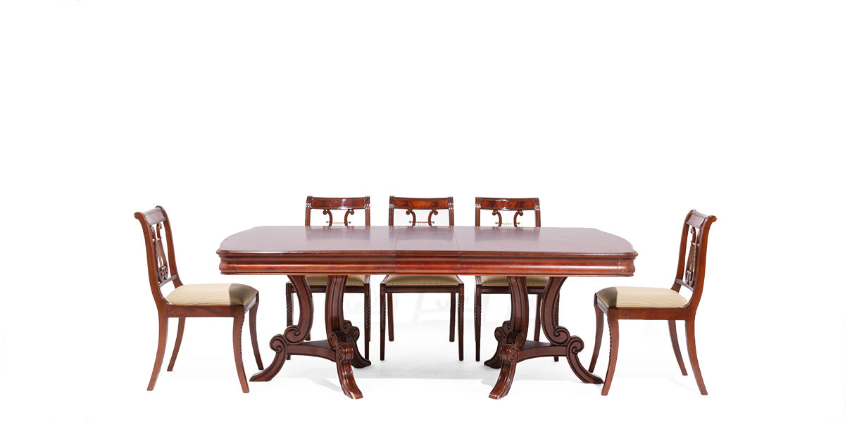 "72""w - 84""w x 44""d Traditional Mahogany Dining Table TBL014127"