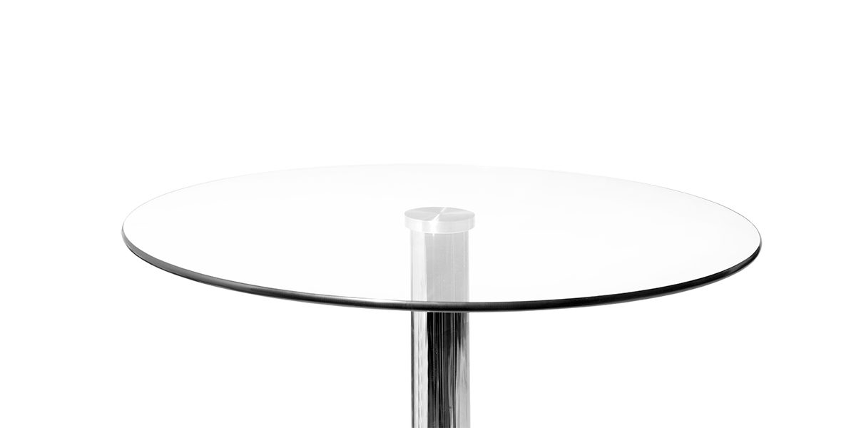 "23.75""dia x 41""h Glass Round Table Top TBR014037"