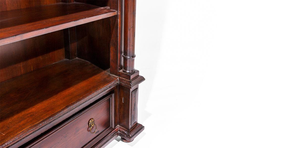 "45""w x 86""h Traditional Mahogany Bookcase BKC014028"