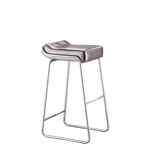 Titanium Vinyl Wedge Bar Stool CHR011806