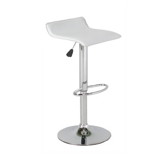 White Vinyl Bar Stool CHR012630