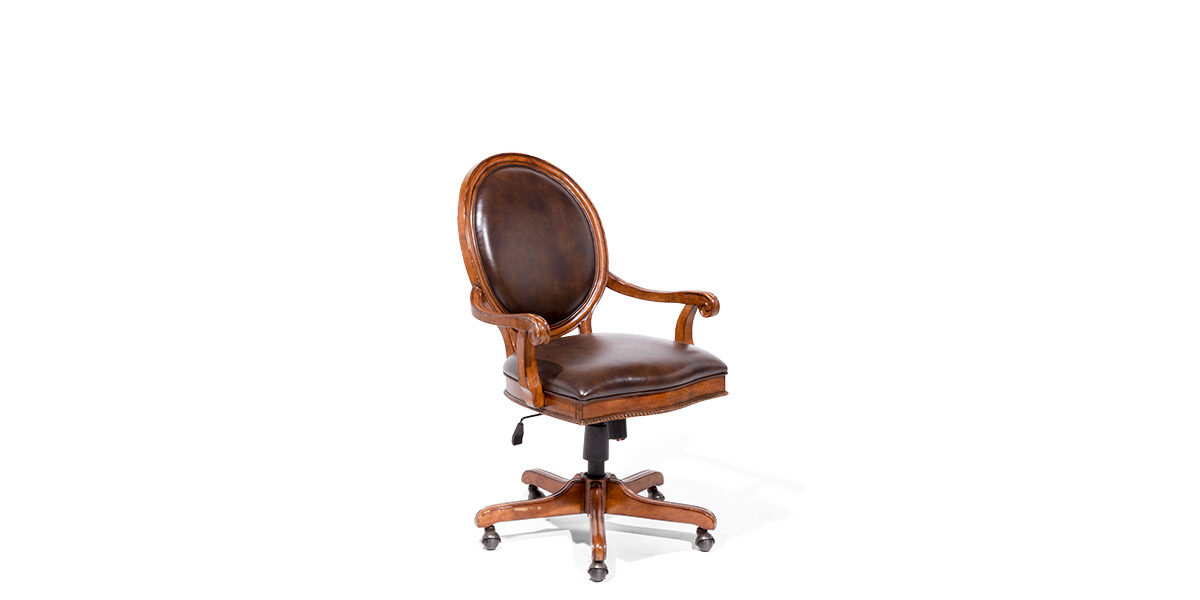 Brown Leather Swivel Guest Chair CHR014118