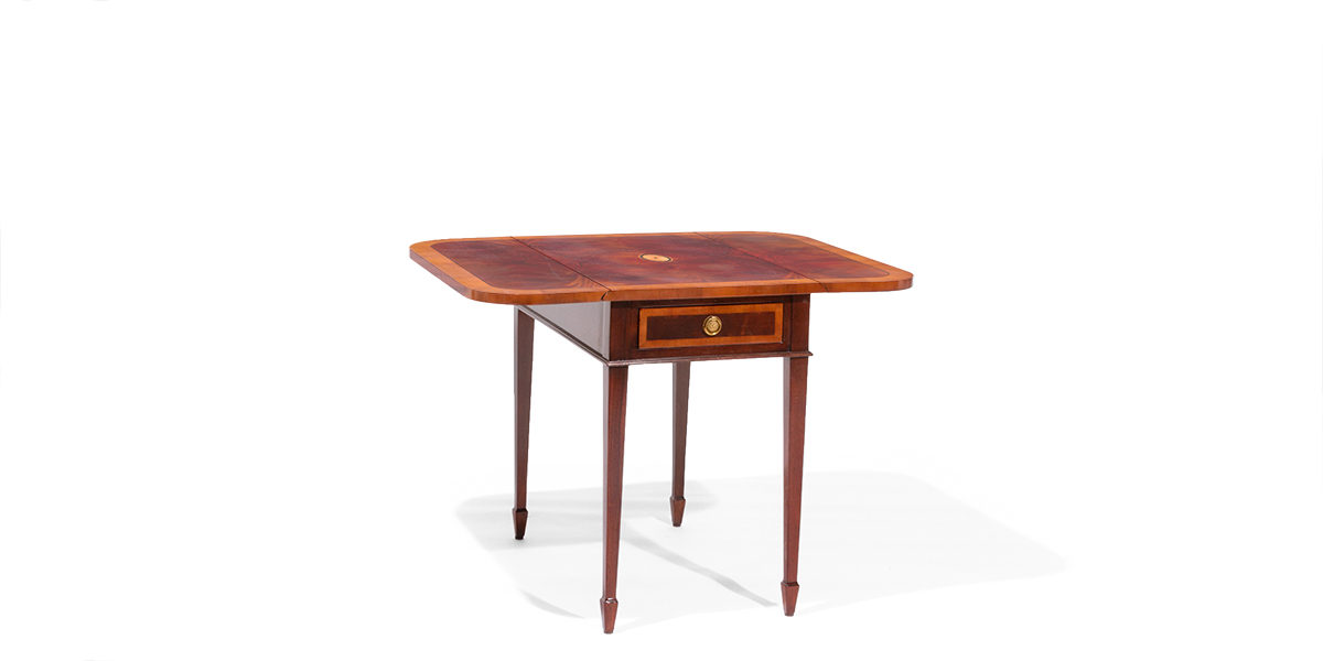"19""w - 37.5""w x 29""d Mahogany Drop-Leaf Side Table TBL014022"