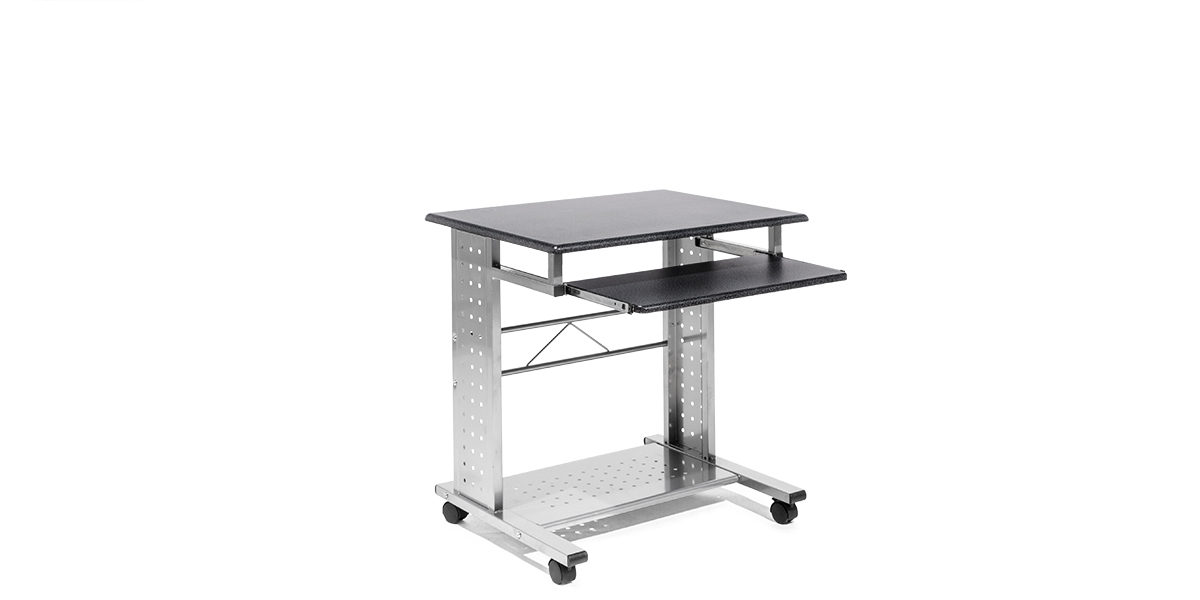 "29.5""w x 23""d Black Mobile Computer Table TBL014098"