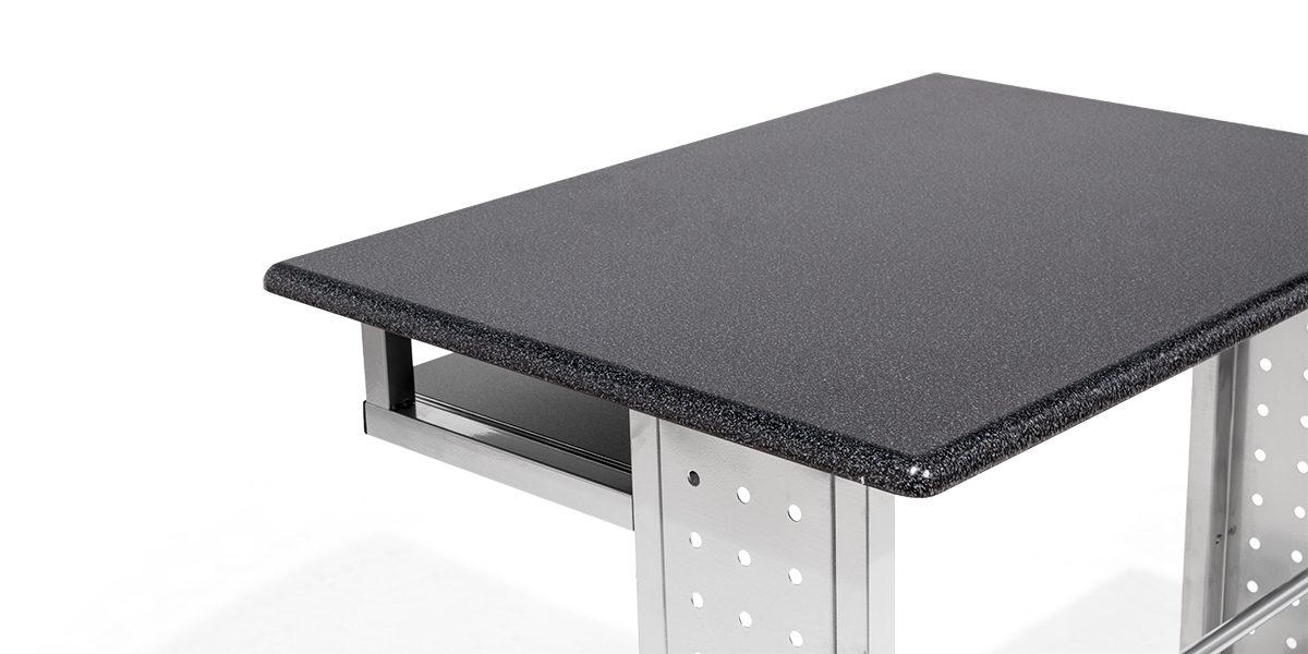 "29.5""w x 23""d Black Mobile Computer Table TBL014098"