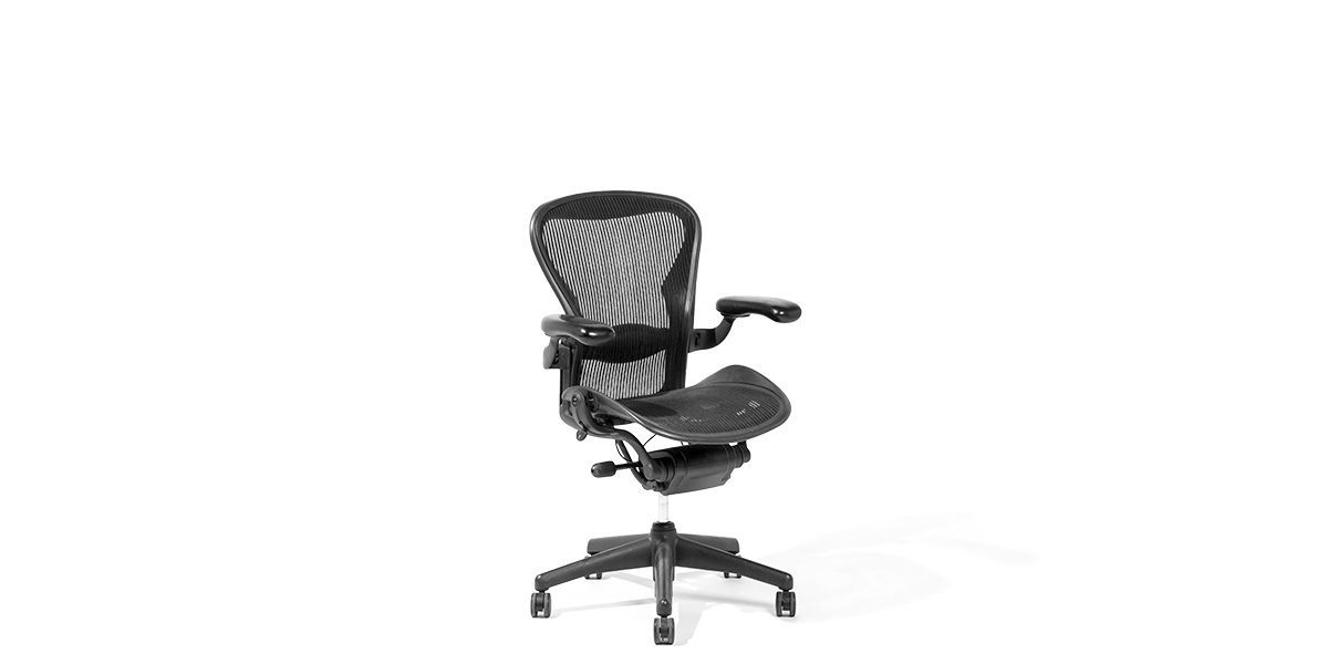 Black Mesh Mid-Back Aeron Swivel Chair CHR002416