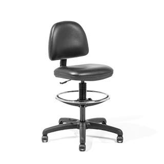 Black Vinyl Drafting Stool CHR007041