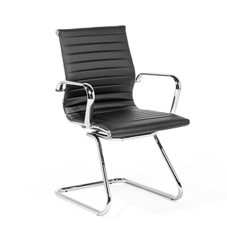 Black Leather Guest Chair CHR012861