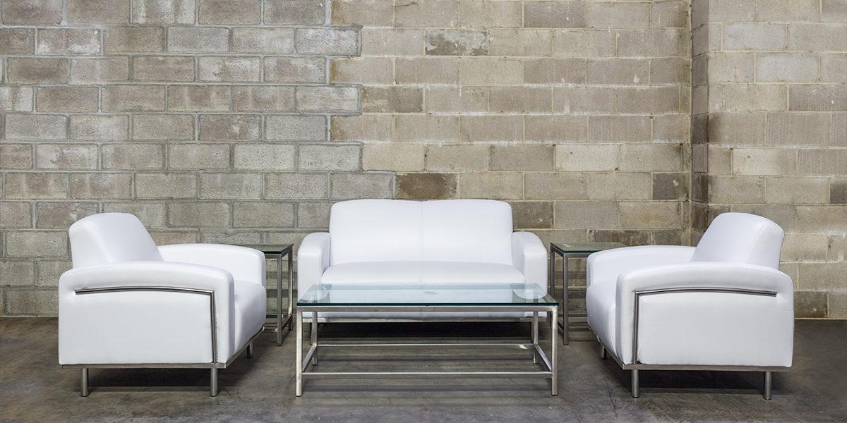 White Leather Club Chair CHR014007