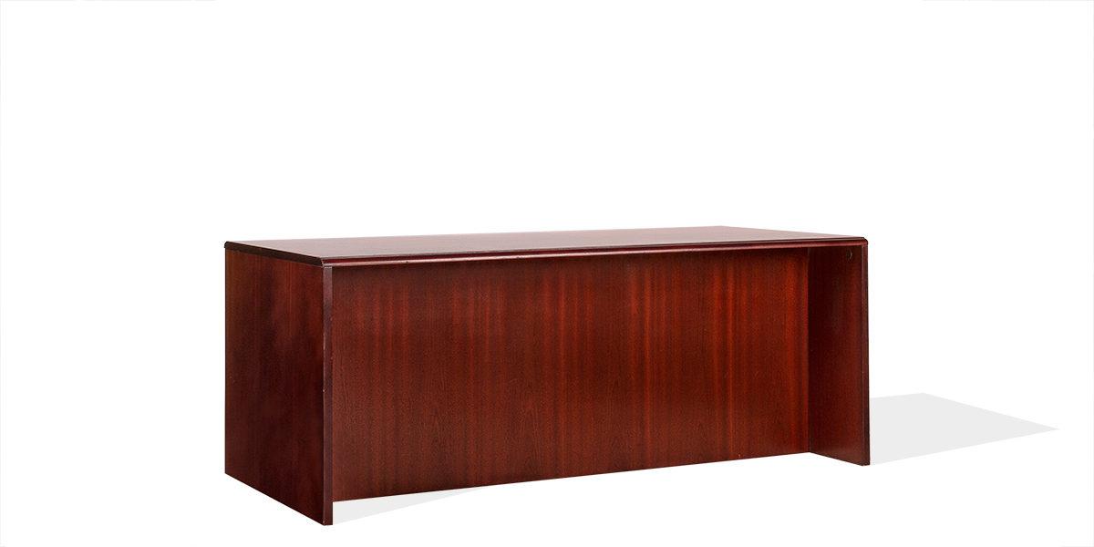 """72""""w x 36""""d Mahogany Veneer Desk DSK000956"""