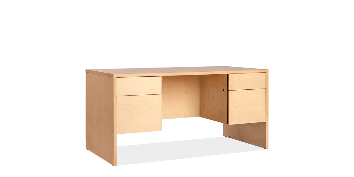 """60""""w x 30""""d Maple Veneer Desk DSK007209"""
