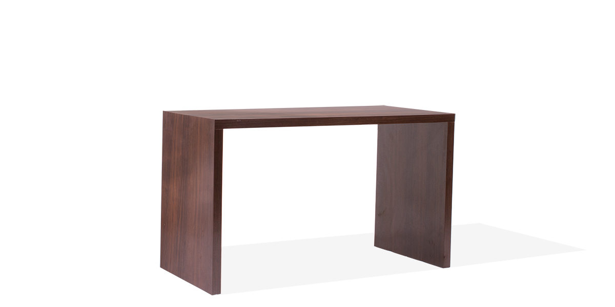 """60""""w x 30""""d Walnut Laminate Counter Height Table Desk DSK013949"""